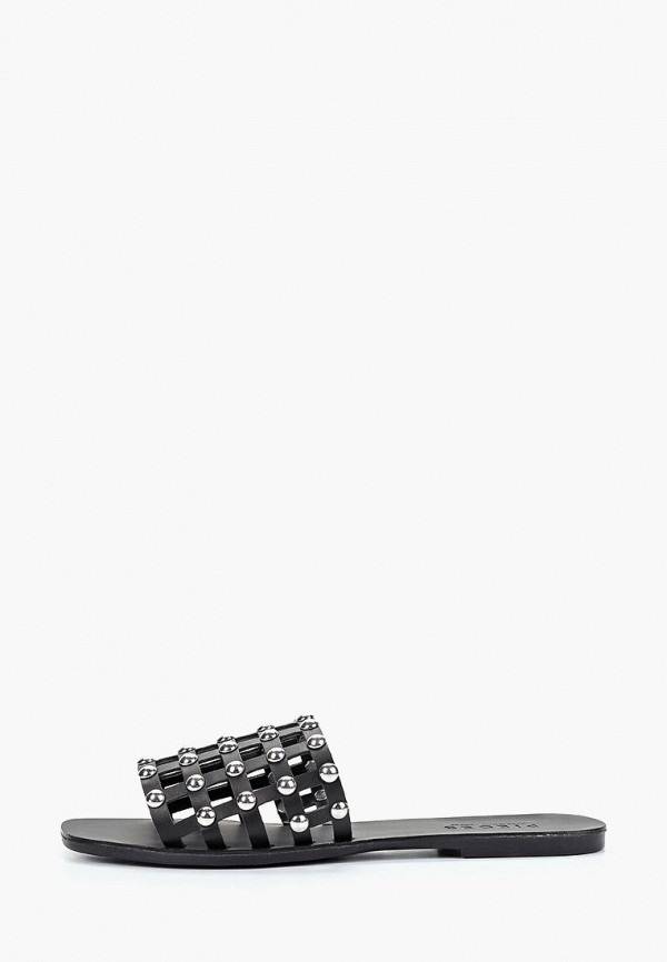 женское сабо pieces, черное