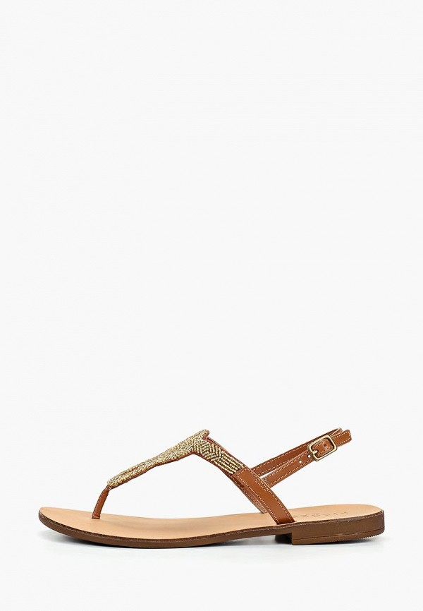 женские сандалии pieces, коричневые