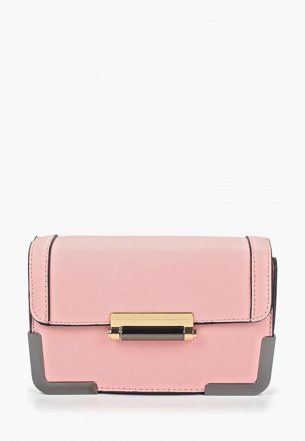 женская сумка pieces, розовая