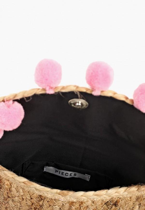 Фото 3 - женскую сумку Pieces бежевого цвета