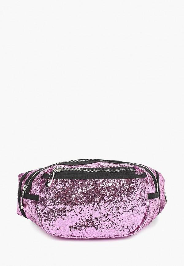 женская сумка pieces, фиолетовая