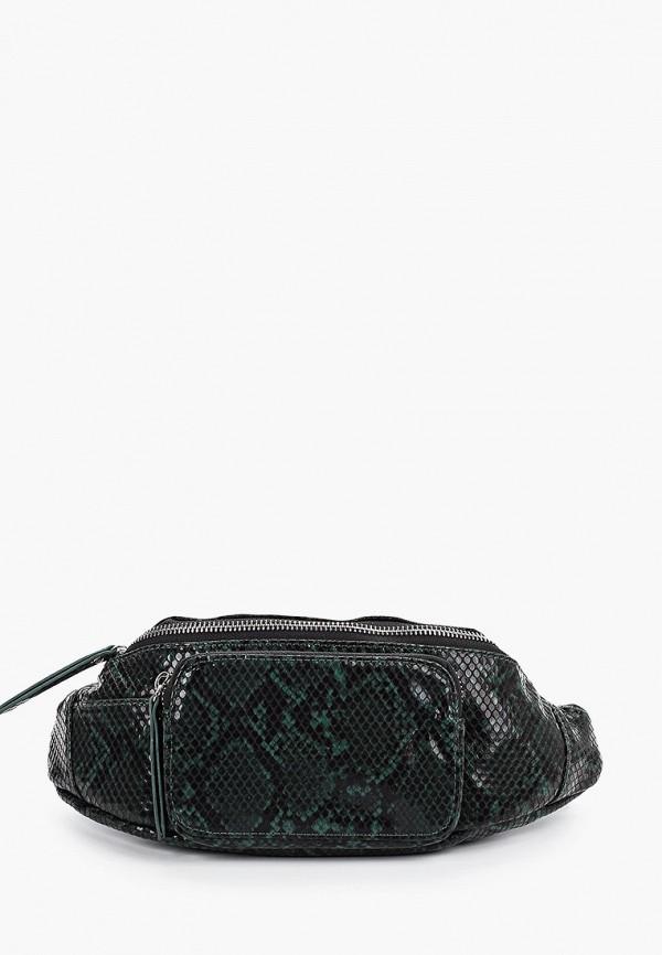 женская сумка pieces, зеленая