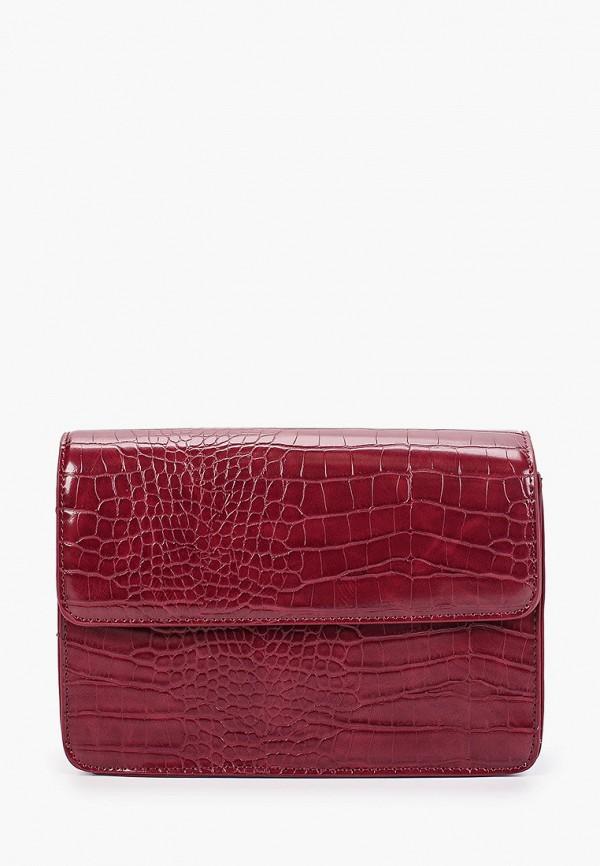 женская сумка pieces, бордовая