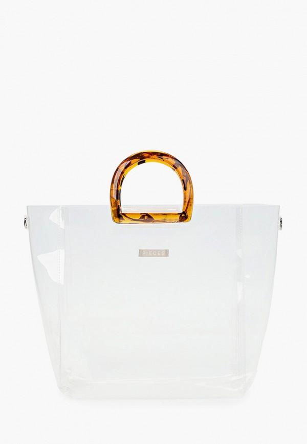 женская сумка pieces, белая
