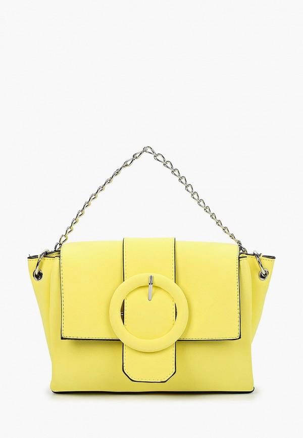 женская сумка pieces, желтая