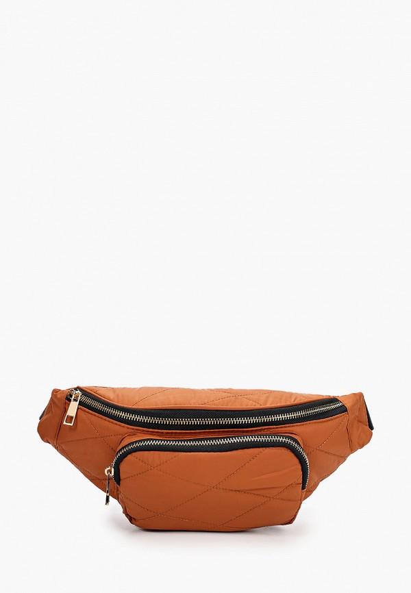 женская поясные сумка pieces, коричневая
