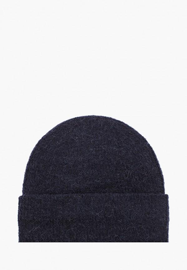 женская шапка pieces, синяя