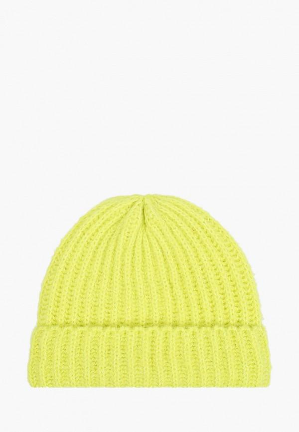 женская шапка pieces, желтая