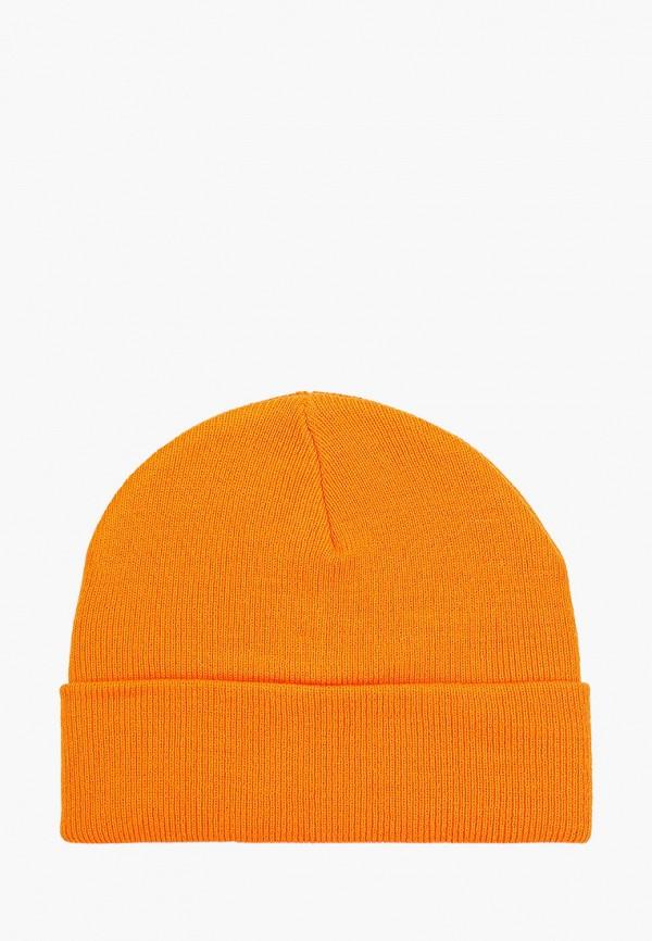 женская шапка pieces, оранжевая