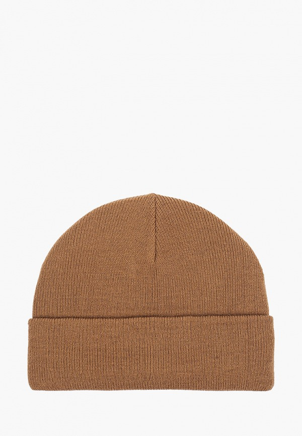 женская шапка pieces, коричневая