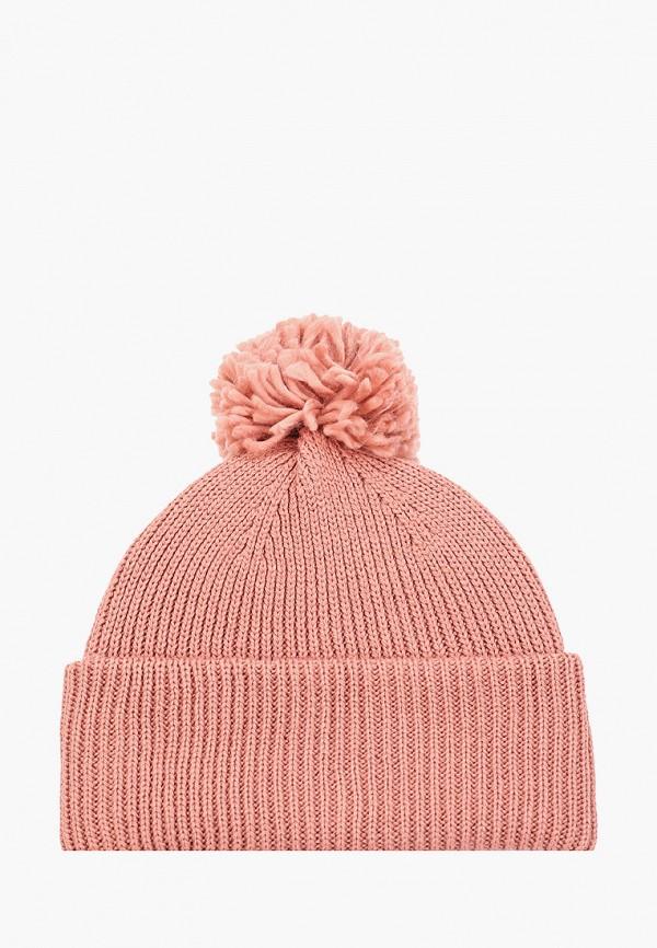 женская шапка pieces, розовая