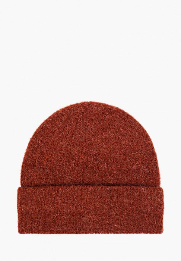 женская шапка pieces, красная