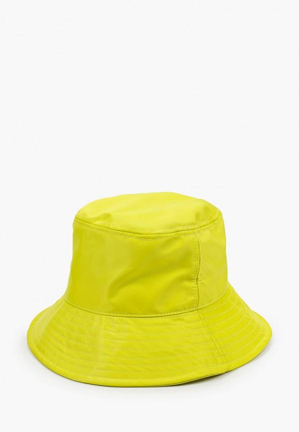 женская панама pieces, желтая