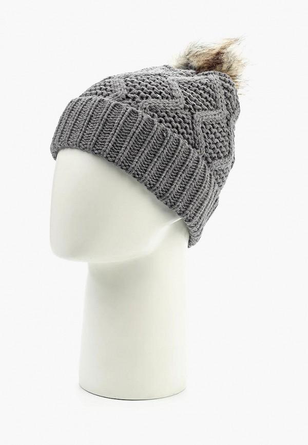 Фото 2 - женскую шапку Pieces серого цвета