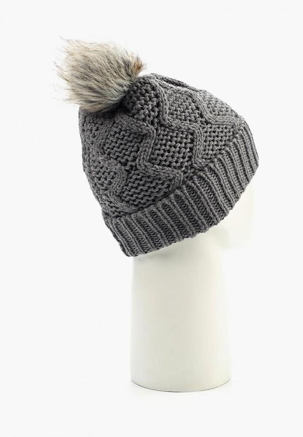 Фото 3 - женскую шапку Pieces серого цвета