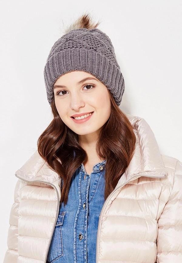 Фото 5 - женскую шапку Pieces серого цвета