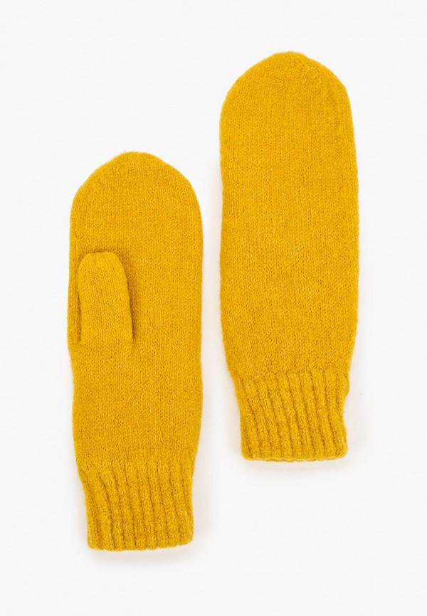 женские варежки pieces, желтые