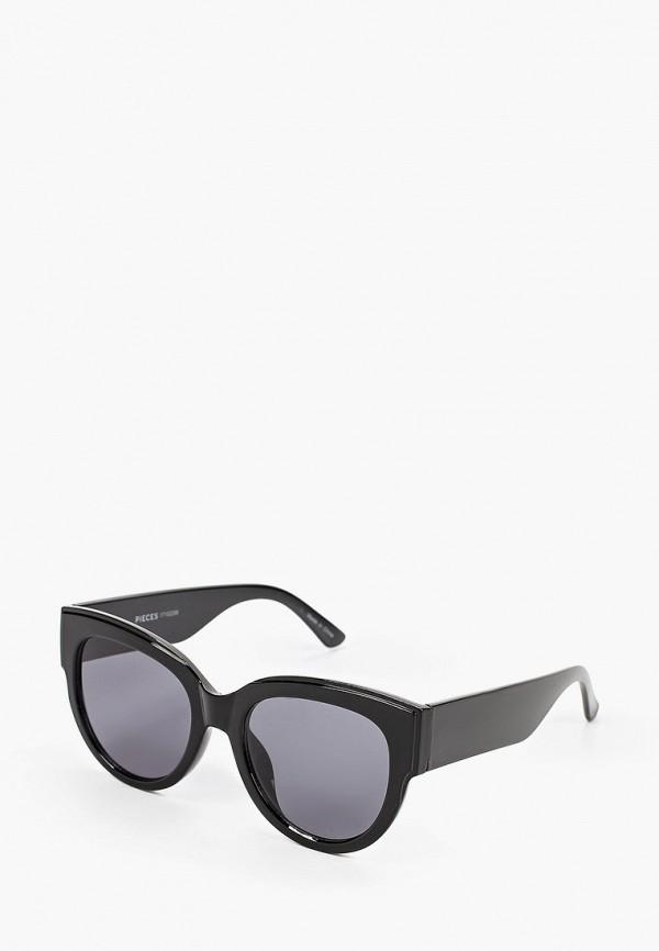 женские солнцезащитные очки pieces, черные