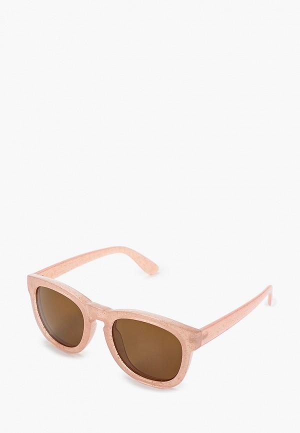 женские солнцезащитные очки pieces, розовые