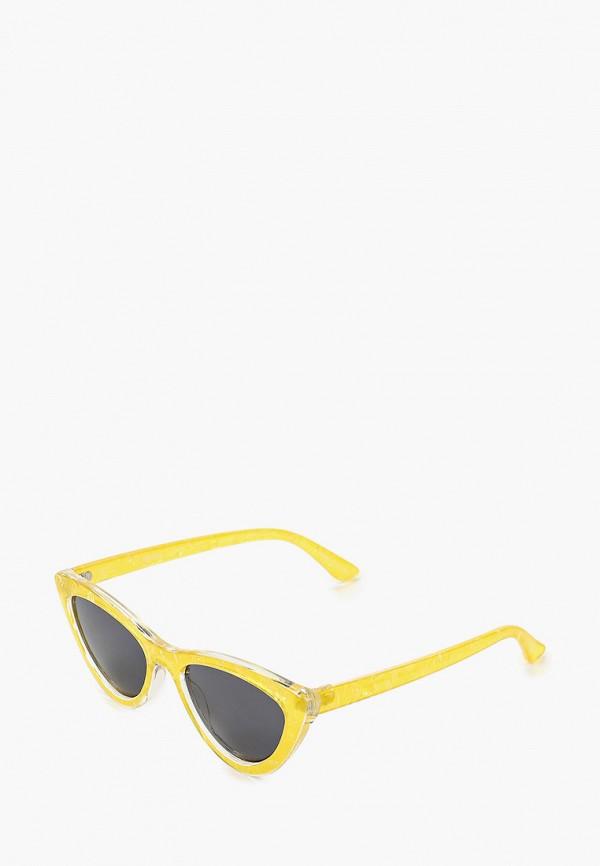 женские солнцезащитные очки pieces, желтые