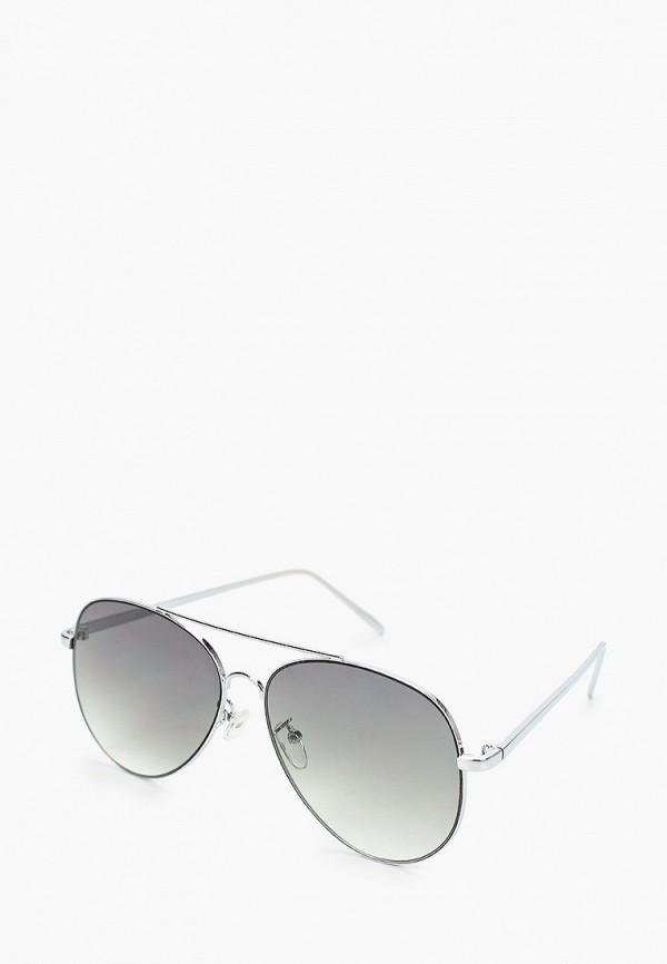 женские авиаторы солнцезащитные очки pieces, серебряные