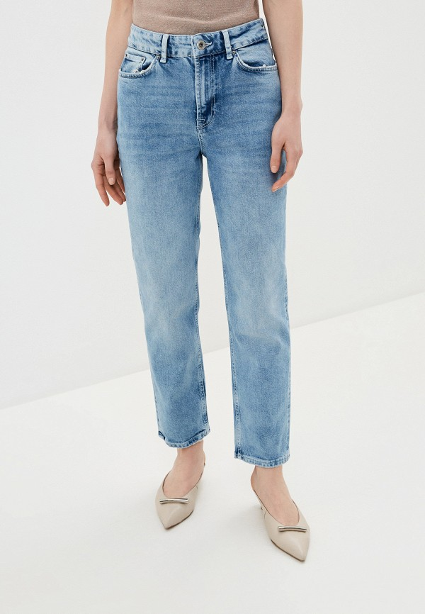 женские джинсы бойфренд pieces, голубые