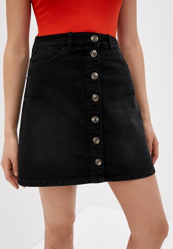 женская джинсовые юбка pieces, черная