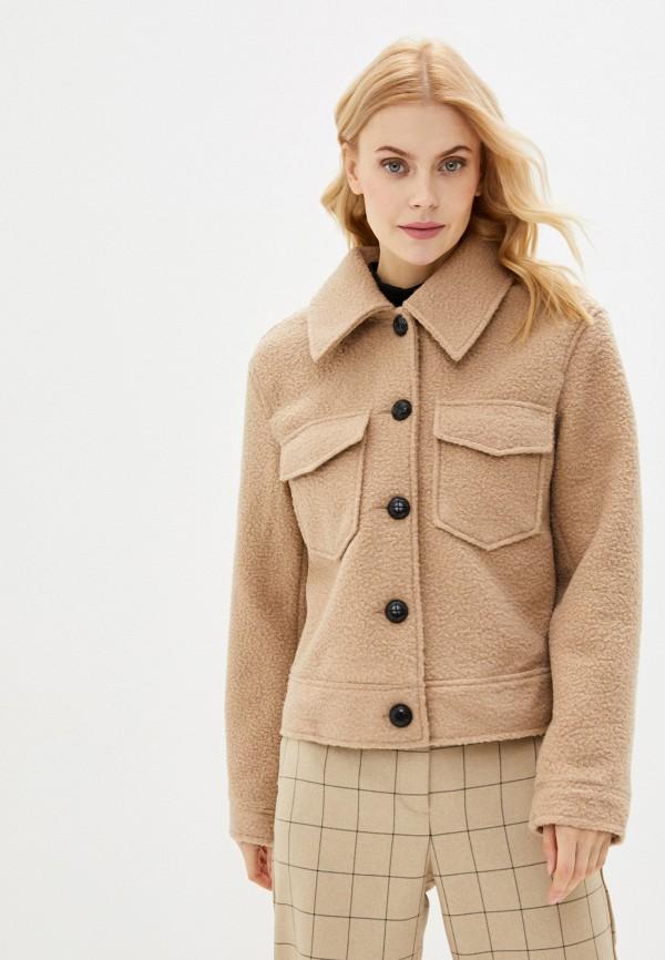 женская куртка pieces, бежевая