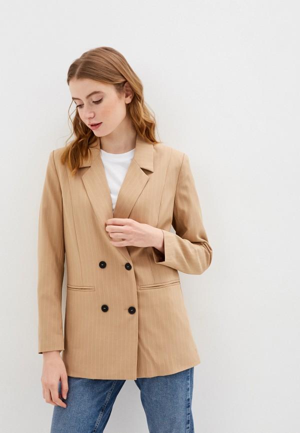 женский пиджак pieces, бежевый