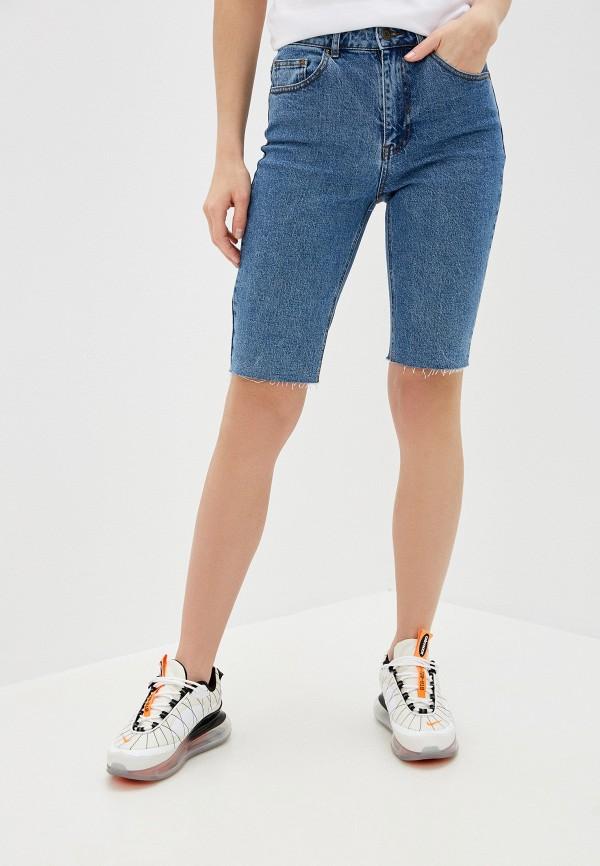 женские джинсовые шорты pieces, синие