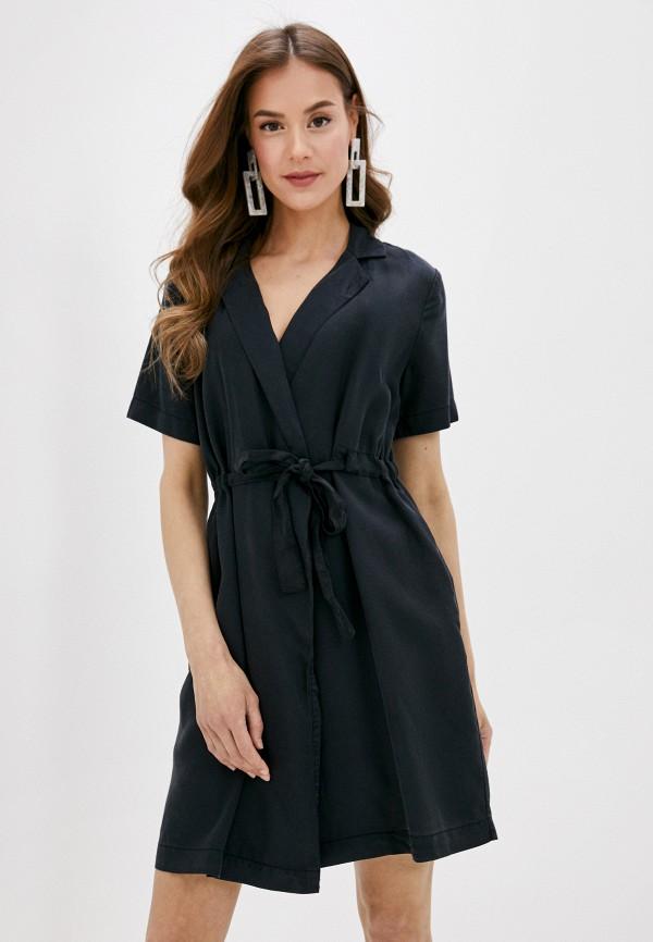 женское платье pieces, черное