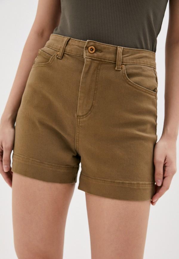 женские повседневные шорты pieces, коричневые