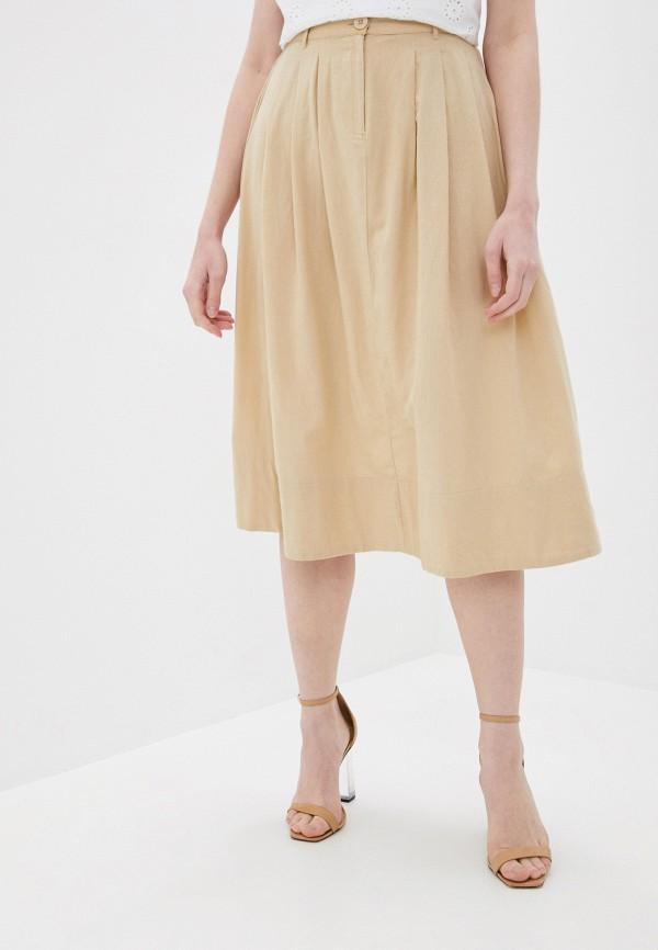 женская юбка pieces, бежевая