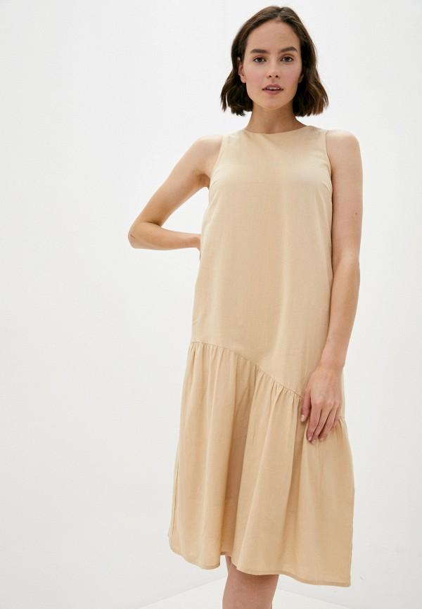 женское повседневные платье pieces, бежевое