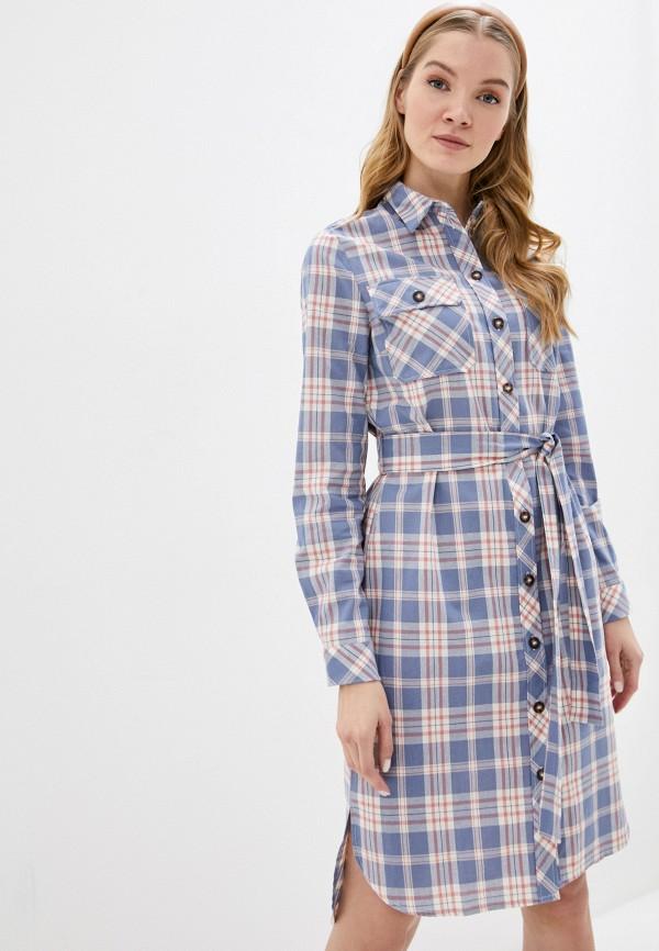 женское платье pieces, синее