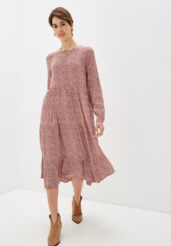женское повседневные платье pieces, коричневое