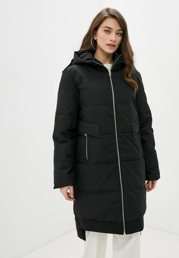 женская куртка pieces, черная