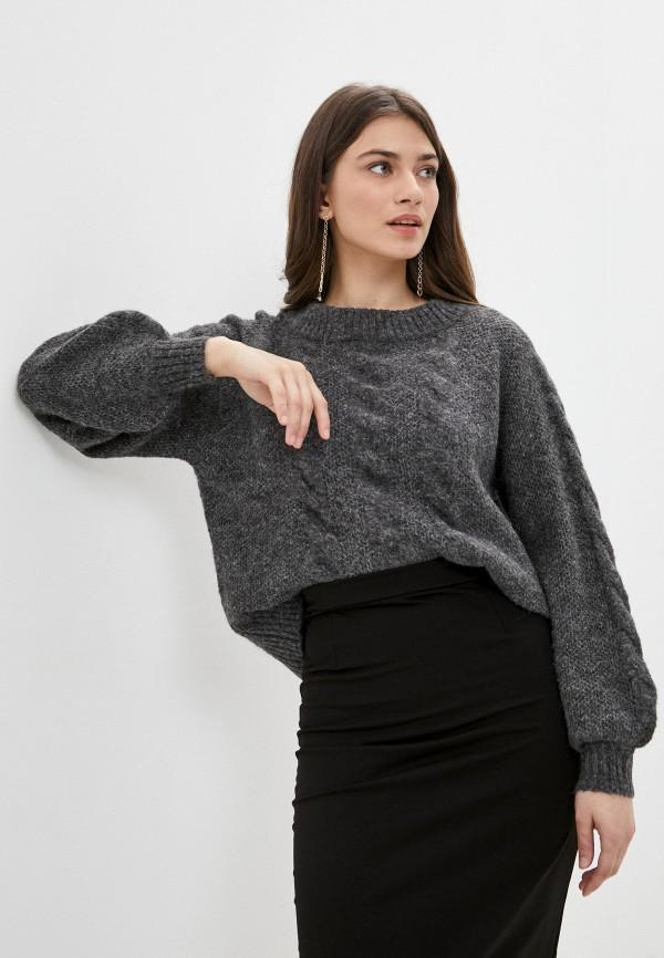 женский джемпер pieces, серый