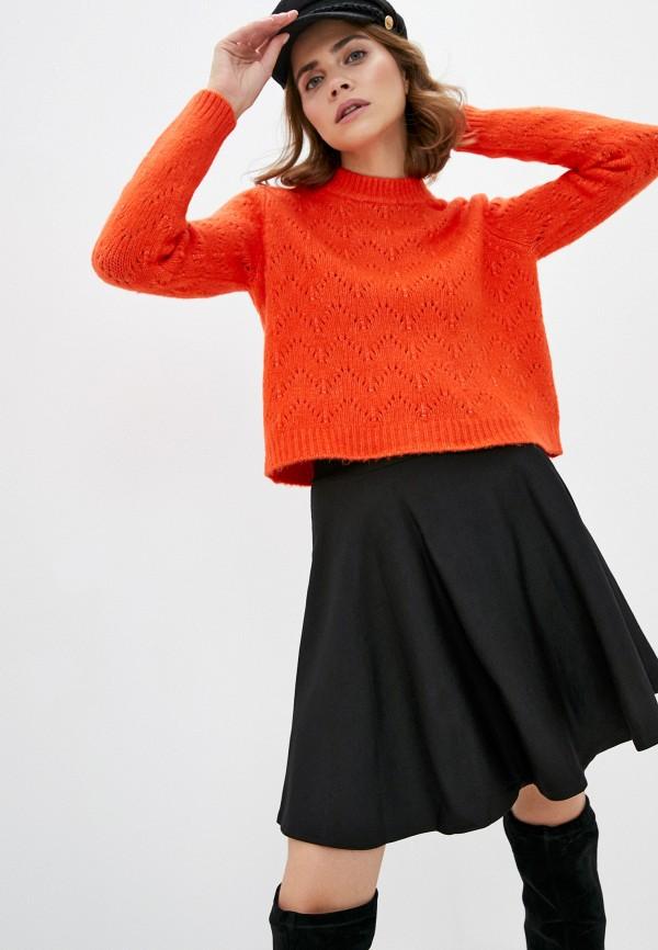 женский джемпер pieces, оранжевый