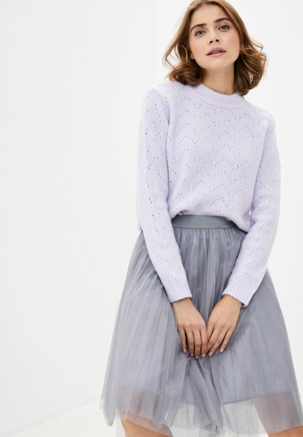 женский джемпер pieces, фиолетовый