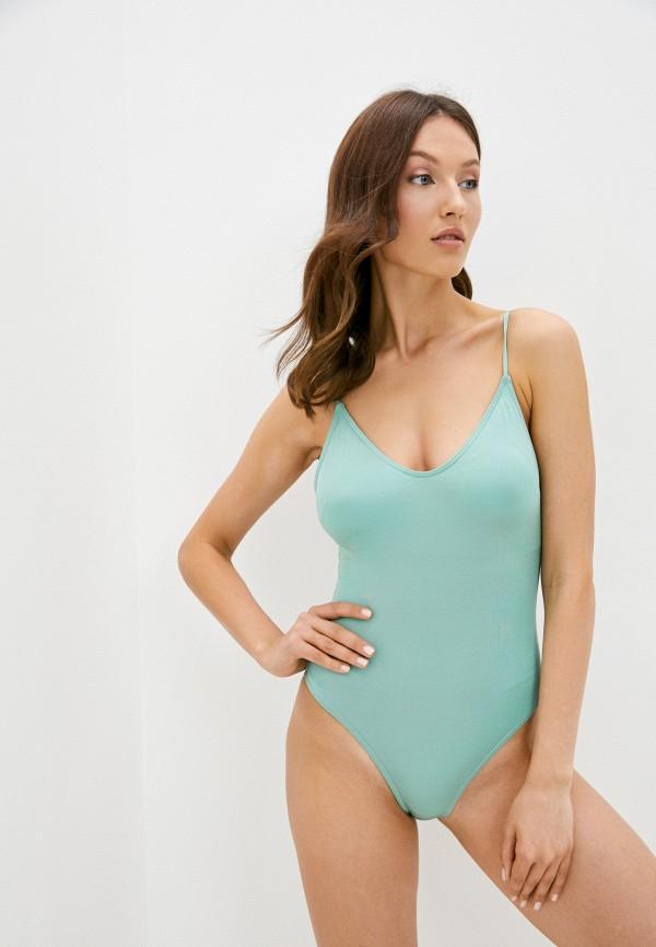 женский купальник pieces, зеленый
