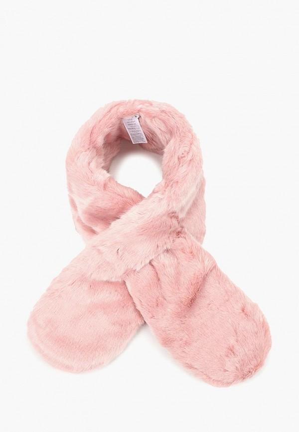 женский шарф pieces, розовый