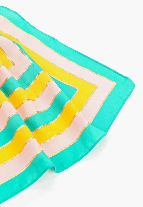 Фото 2 - женский платок Pieces разноцветного цвета
