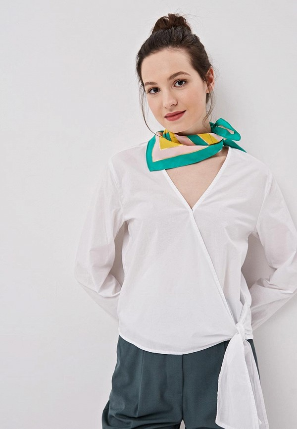 Фото 3 - женский платок Pieces разноцветного цвета