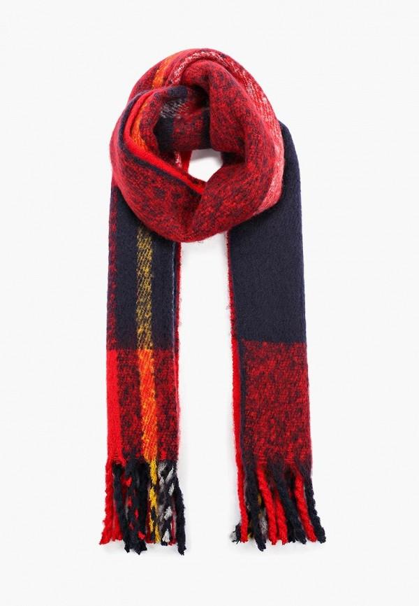женский шарф pieces, красный