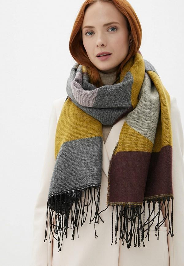 Фото 3 - женский шарф Pieces разноцветного цвета