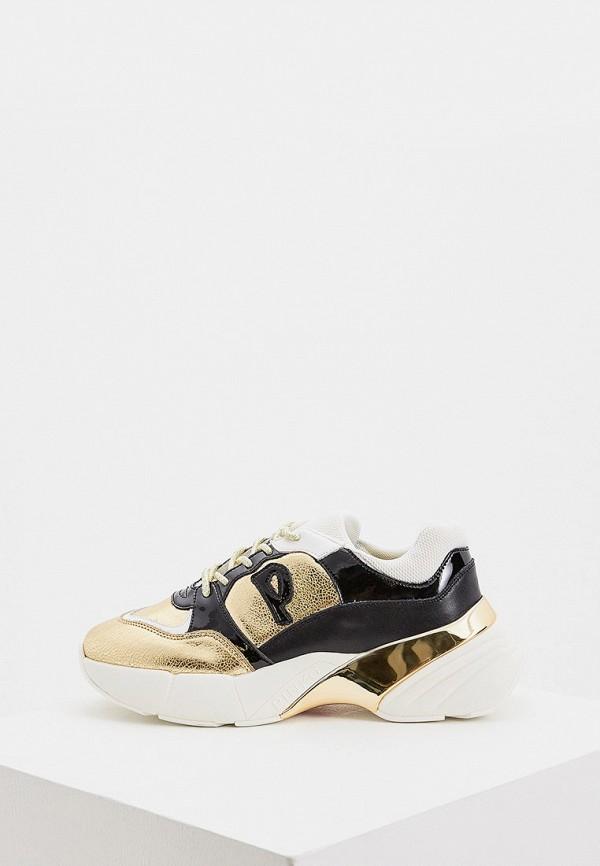 женские кроссовки pinko, золотые