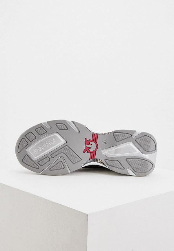 Фото 3 - женские кроссовки Pinko серого цвета