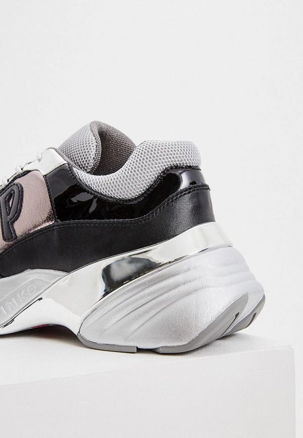 Фото 5 - женские кроссовки Pinko серого цвета