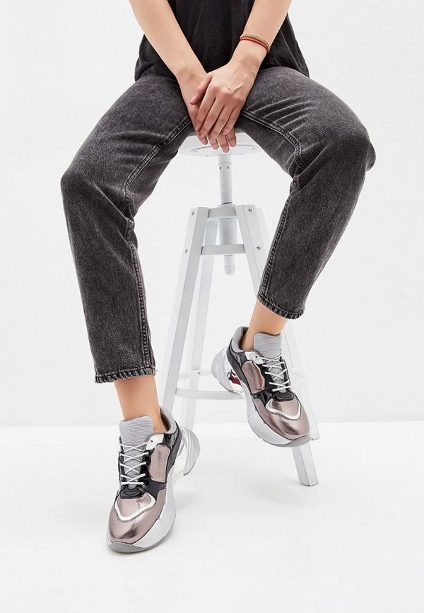 Фото 6 - женские кроссовки Pinko серого цвета